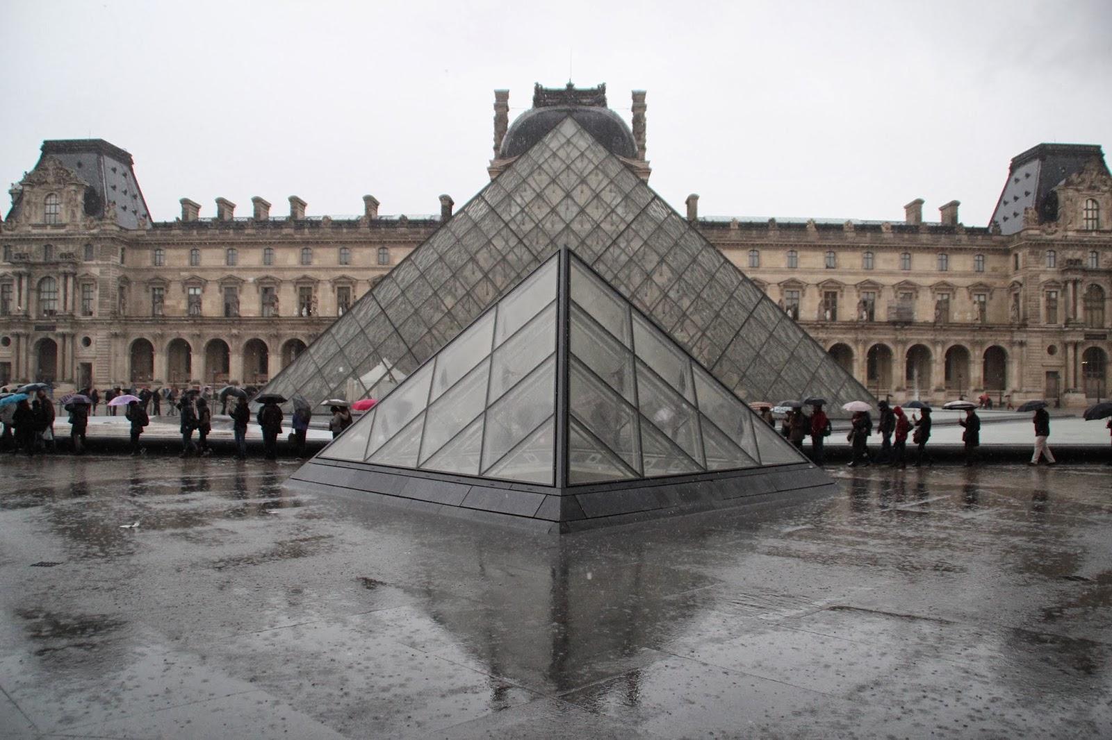 Louvre Bajo la Lluvia