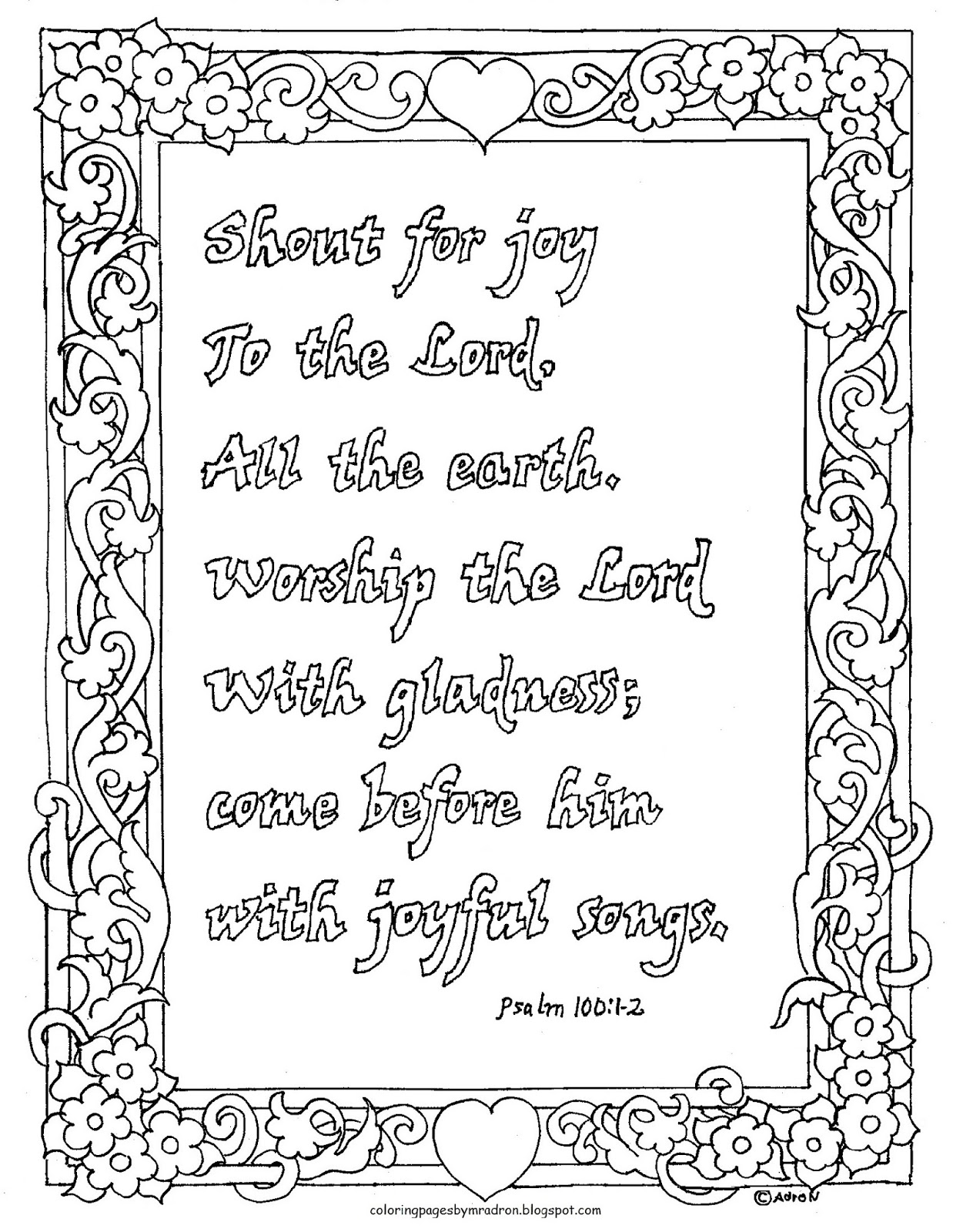 Coloring Pages For Kids By Mr Adron Coloring Page Psalm