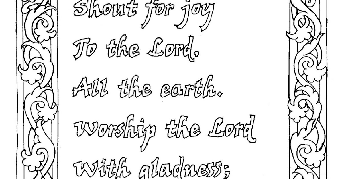 free 100 coloring pages for kids | Coloring Pages for Kids by Mr. Adron: Coloring Page Psalm ...