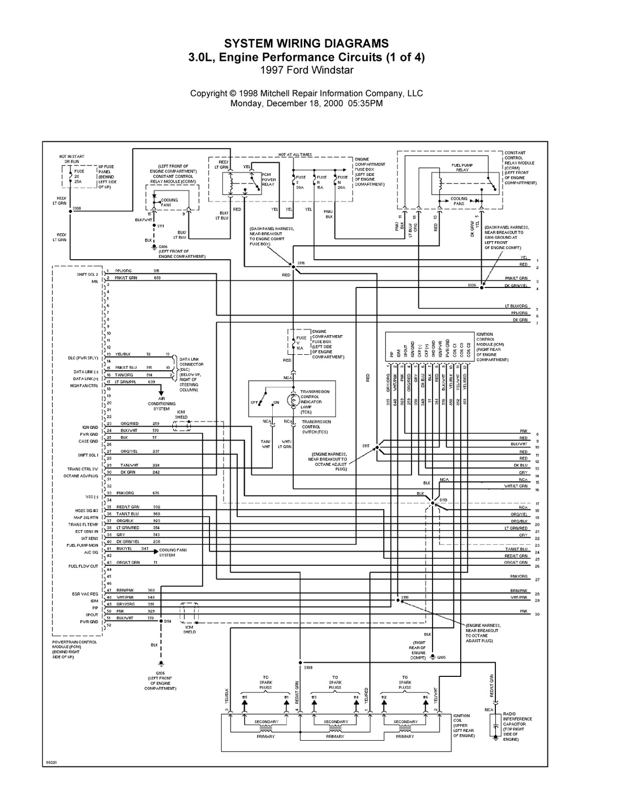 Ford Windstar Electrical Diagram Wiring Schematic 2019 2001 Fuse 1997 Complete System Diagrams 2000 2003