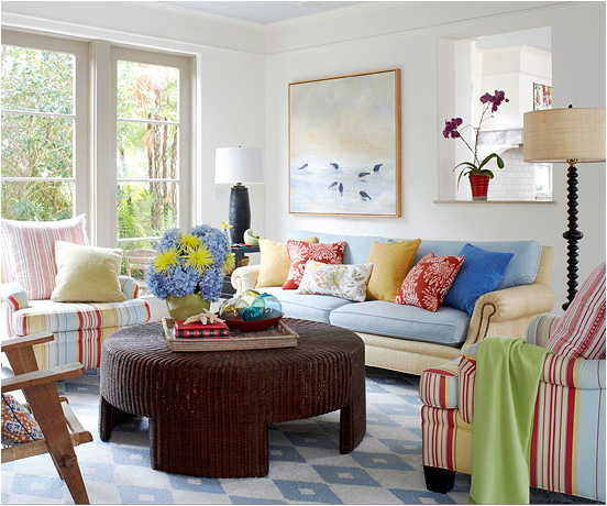 Colorful Cottage Rooms: Key Interiors By Shinay: Cottage Living Room Design Ideas