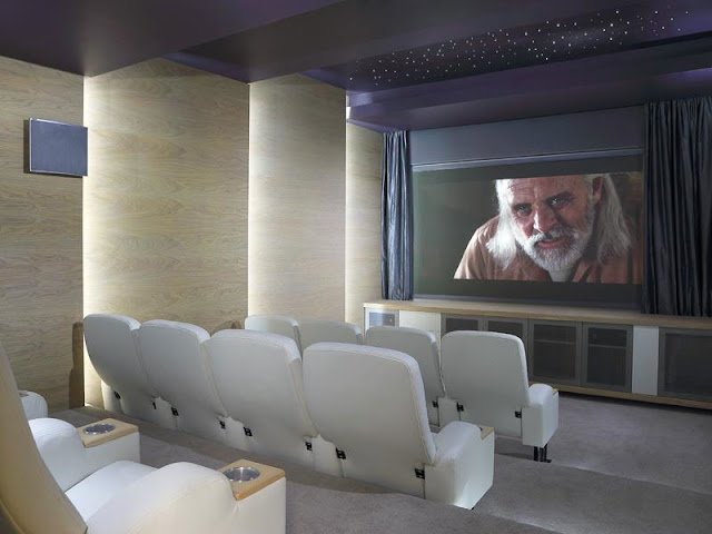 Home theater in the Modern Luxury House In Johannesburg
