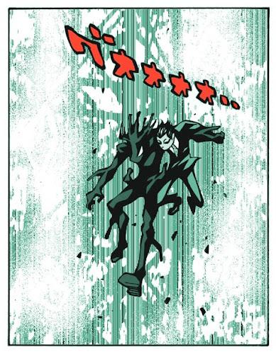『モノクローム・ロジャー』というマンガのひとコマを加工した画像