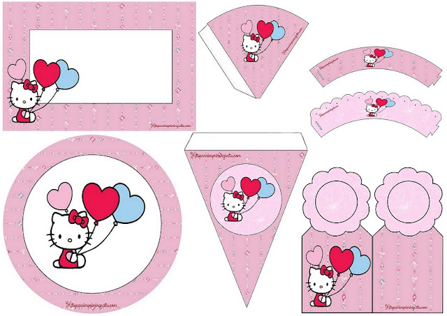 Hello Kitty: Mini Kit para Imprimir Gratis.