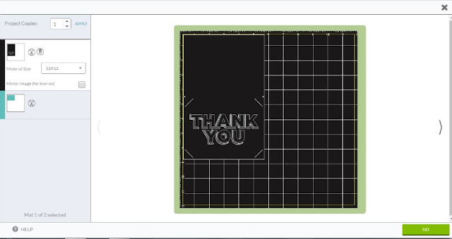 Create Thank You cards in one easy step with the Write and Cut feature on your Cricut machine.
