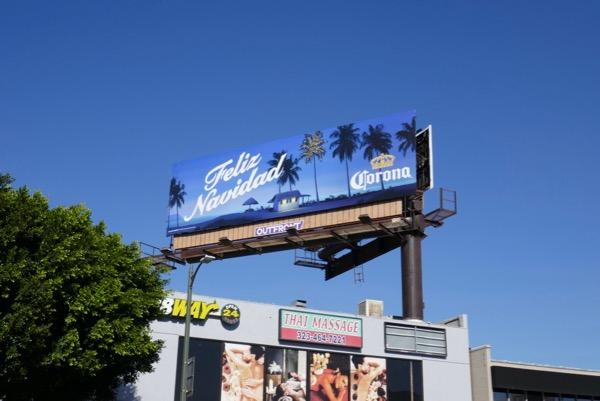 Feliz Navidad Corona billboard