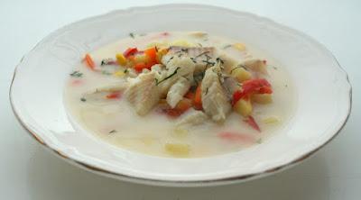 Zupa jarzynowa z rybą