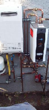 High-efficiency Tankless Water Heater Installed by TRM Plumbing, Inc. of Beverly Hills