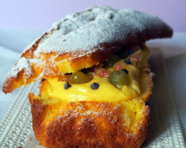 Plumcake Con Macedonia Di Frutta E Crema Pasticcera