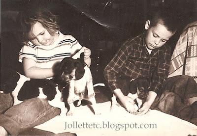 Bobbie and Glenn Davis 1950s http://jollettetc.blogspot.com