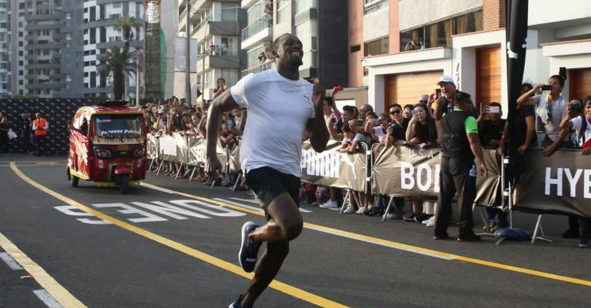 USAIN BOLT EN PERÚ: Atleta jamaiquino compitió y ganó singular carrera con Mototaxi [VIDEO]
