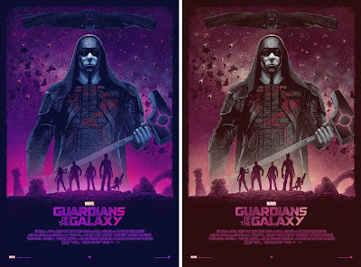 Guardians of the Galaxy Movie Poster Screen Print by Marko Manev x Grey Matter Art x Marvel