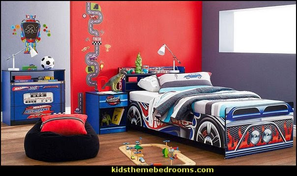 Car Themed Bedrooms for Teenagers boys cars  car beds for kids