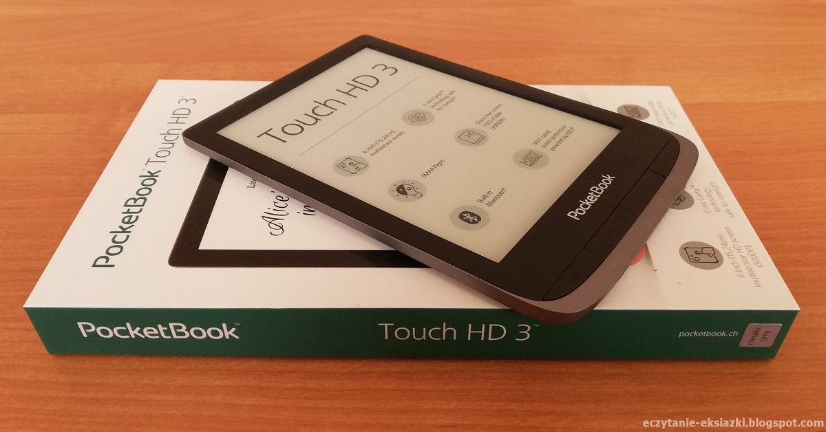 czytnik e-booków PocketBook Touch HD 3 położony na opakowaniu