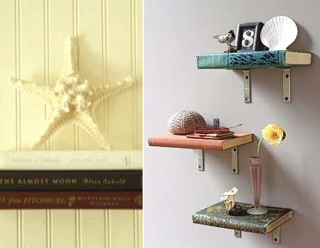 shelves made with books