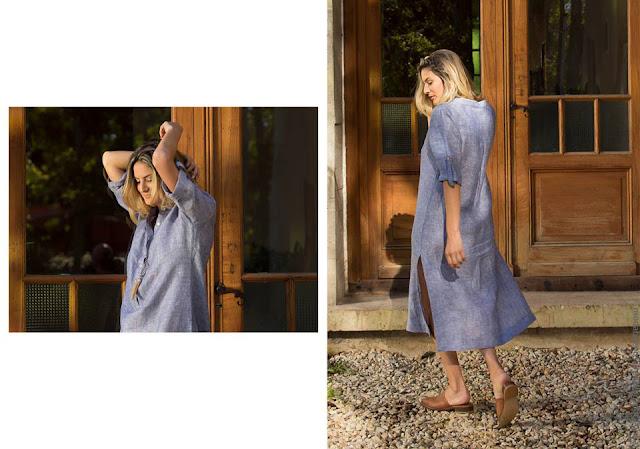 Marcela Pagella colección primavera verano 2017 vestidos camiseros. Moda primavera verano 2017.