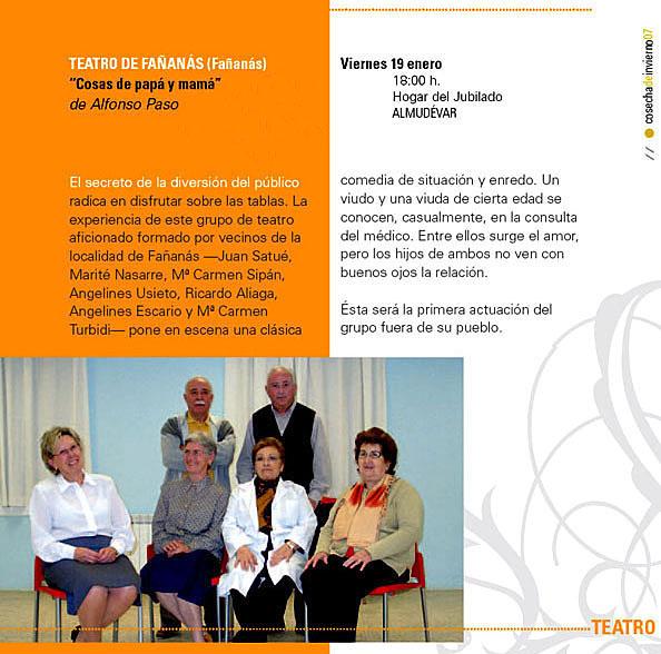Gran éxito del Teatro de Fañanás en Almudévar