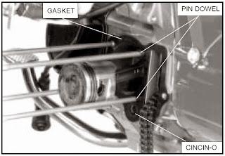 Cara Bongkar mesin motor Honda grand silinder & head