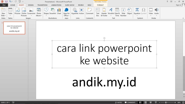 link powerpoint ke website otomatis
