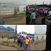 Photo: People Protest as Ambode bans LAGBUS operations on Ikorodu road