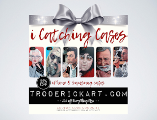 Coupon Code GOODGIFT 25% off iPhone and Samsung cases troderickart.com