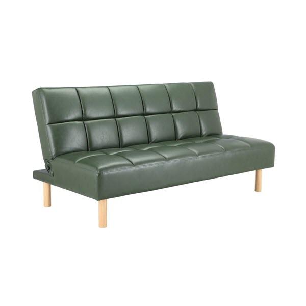 RESTY Sofa Giường Da Tổng Hợp 165x81x84 cm Màu Xanh lá
