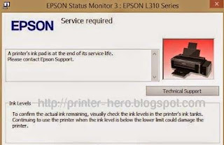 Epson L310 Service Required