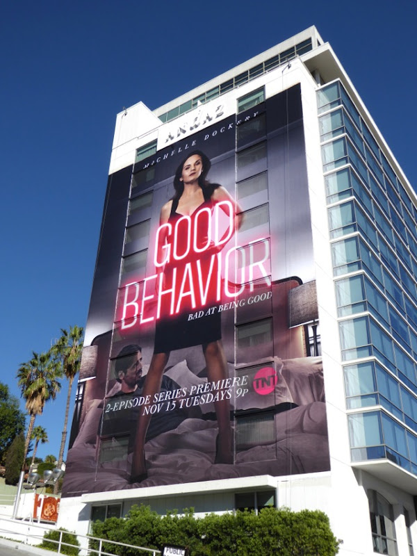 Giant Michelle Dockery Good Behavior billboard