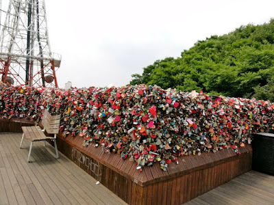 The padlocks of love at Namsan
