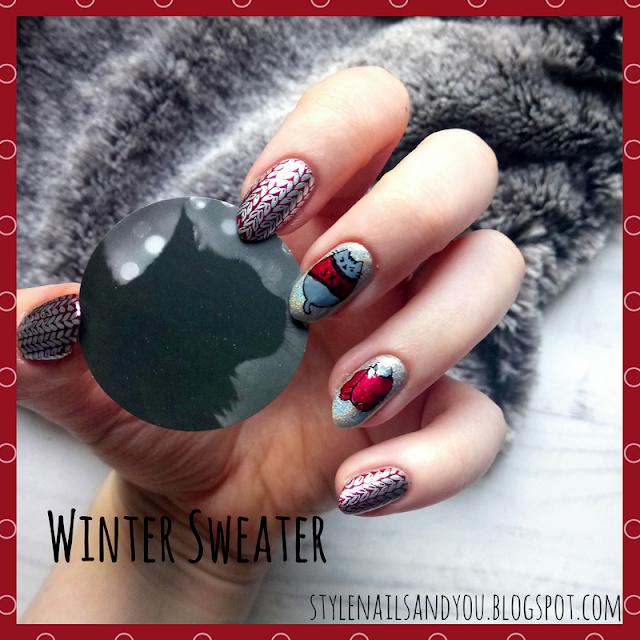 Winter Sweater | BeautyBigBang Xmas Winter Nail Stamping Plate 05 | BeautyBigBang Review