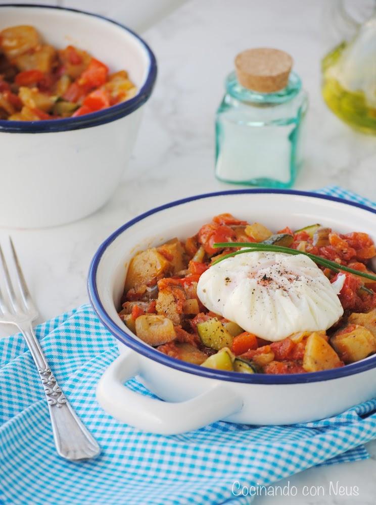 cocinando con neus samfaina con huevo poch