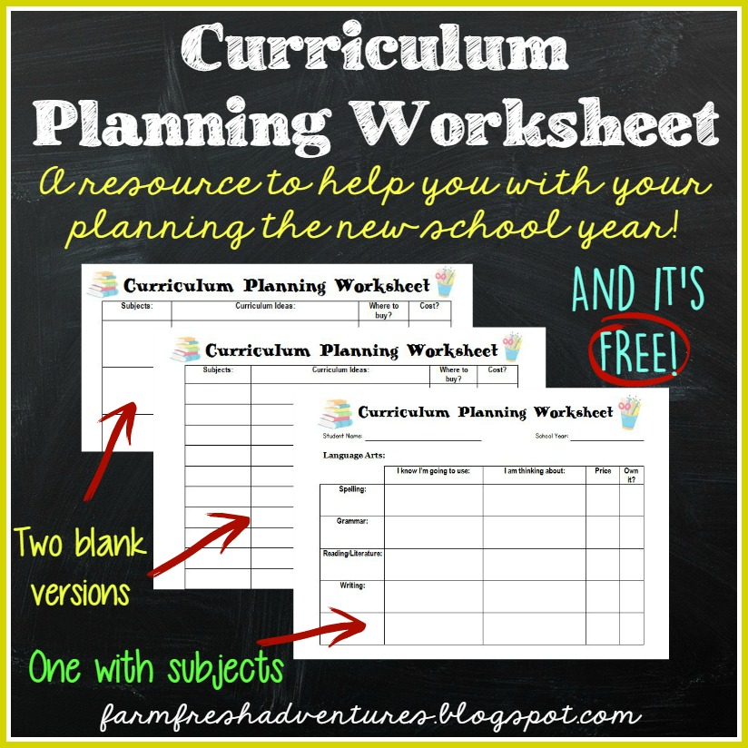 Farm Fresh Adventures: Homeschool Curriculum Planning and FREE ...