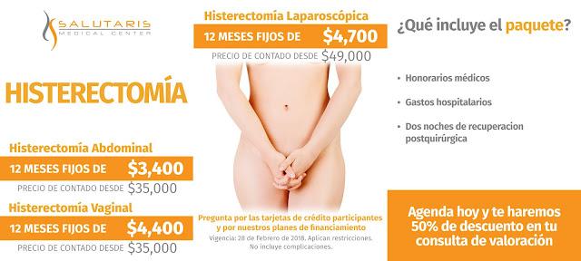 Precio Histerectomía en Guadalajara