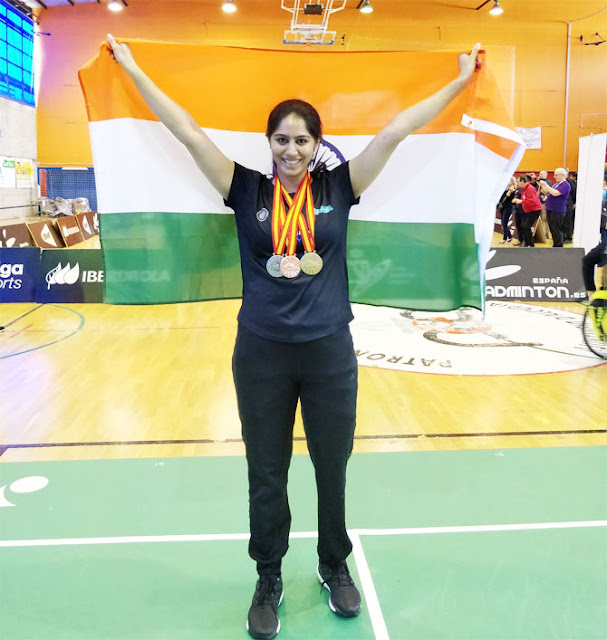 India's Manasi Joshi wins 3 medals at Para Badminton International