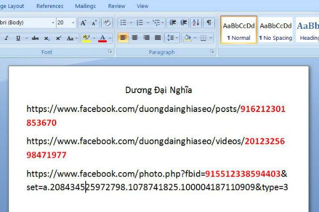 cách lấy id status facebook 3