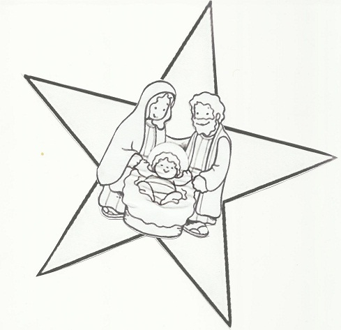 13 Active: Crèche-étoile à colorier