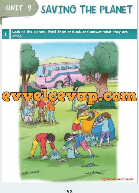 6. Sınıf Ada Matbaa Yayınları İngilizce Çalışma Kitabı 52. Sayfa Cevapları Unit 9 Saving The Planet
