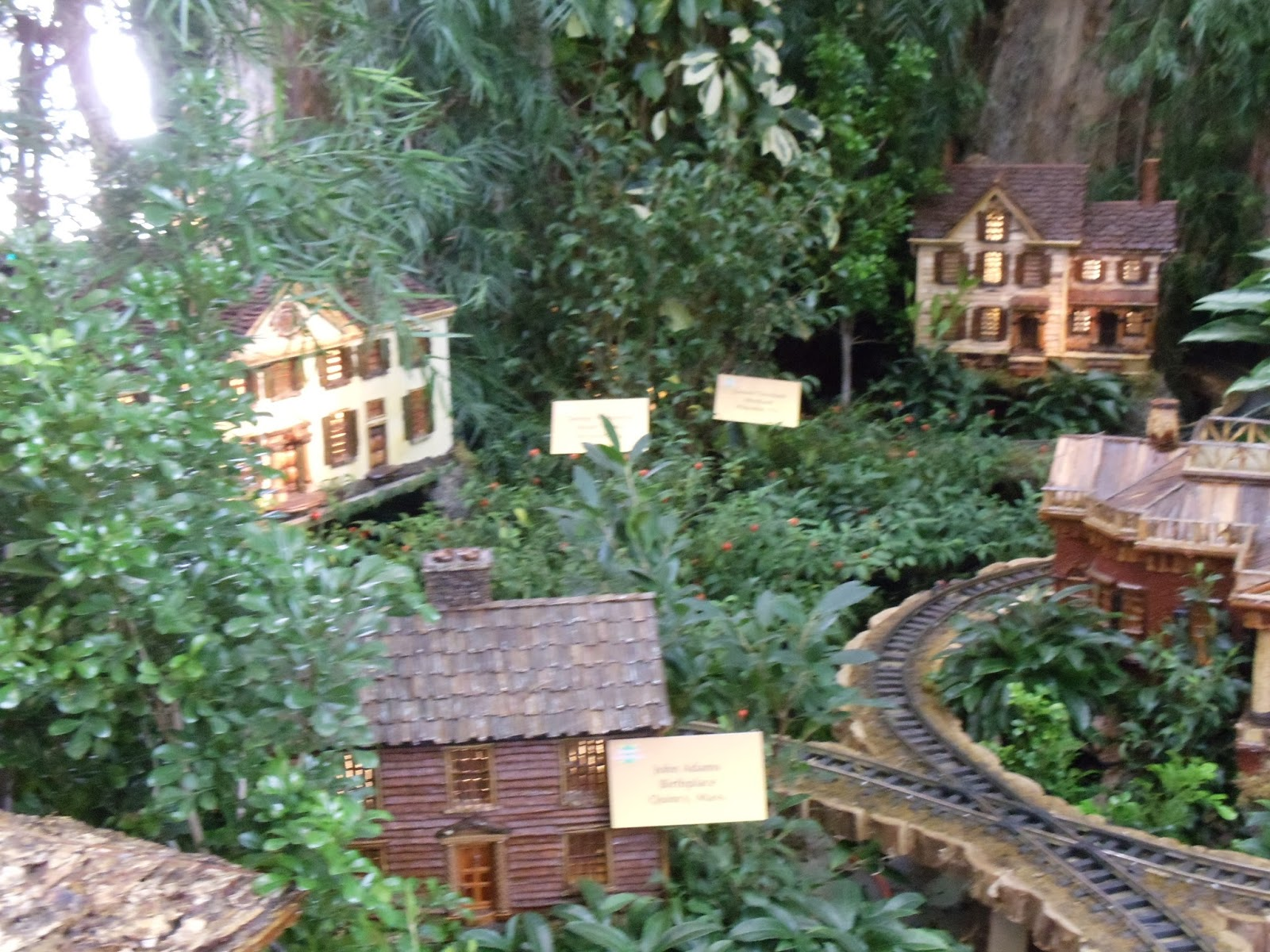 Holiday exhibit at the US Botanic Garden