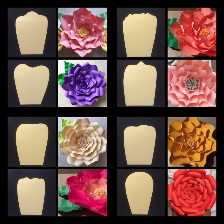 Tutorial De Artesanías Flores Gigantes En Cartulina