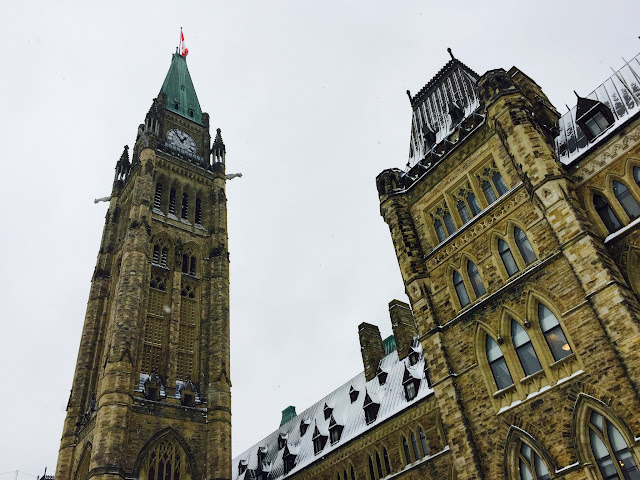 The Peace Tower, home of Ottawa's 53 bell Carillon