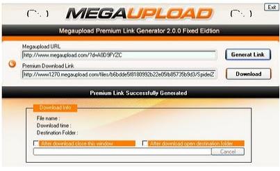 Mega link generator - Spotify logins