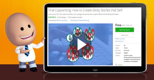 [100% Off] Viral Copywriting: How to Create Sticky Stories that Sell!| Worth 20$