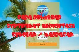 [Cara] Download Sertifikat Akreditasi Sekolah / Madrasah di SISPENA
