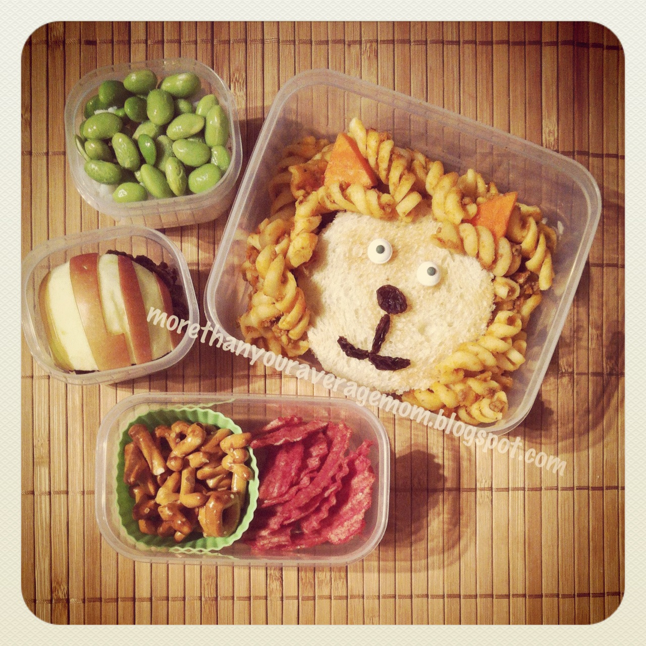 review l is for lion bento lunch giveaway more than your average mom. Black Bedroom Furniture Sets. Home Design Ideas