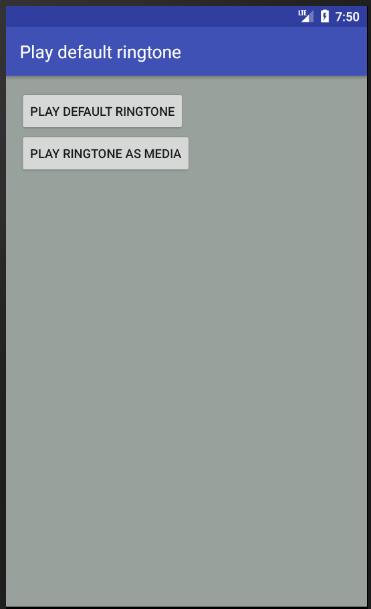 android - Play default ringtone programmatically