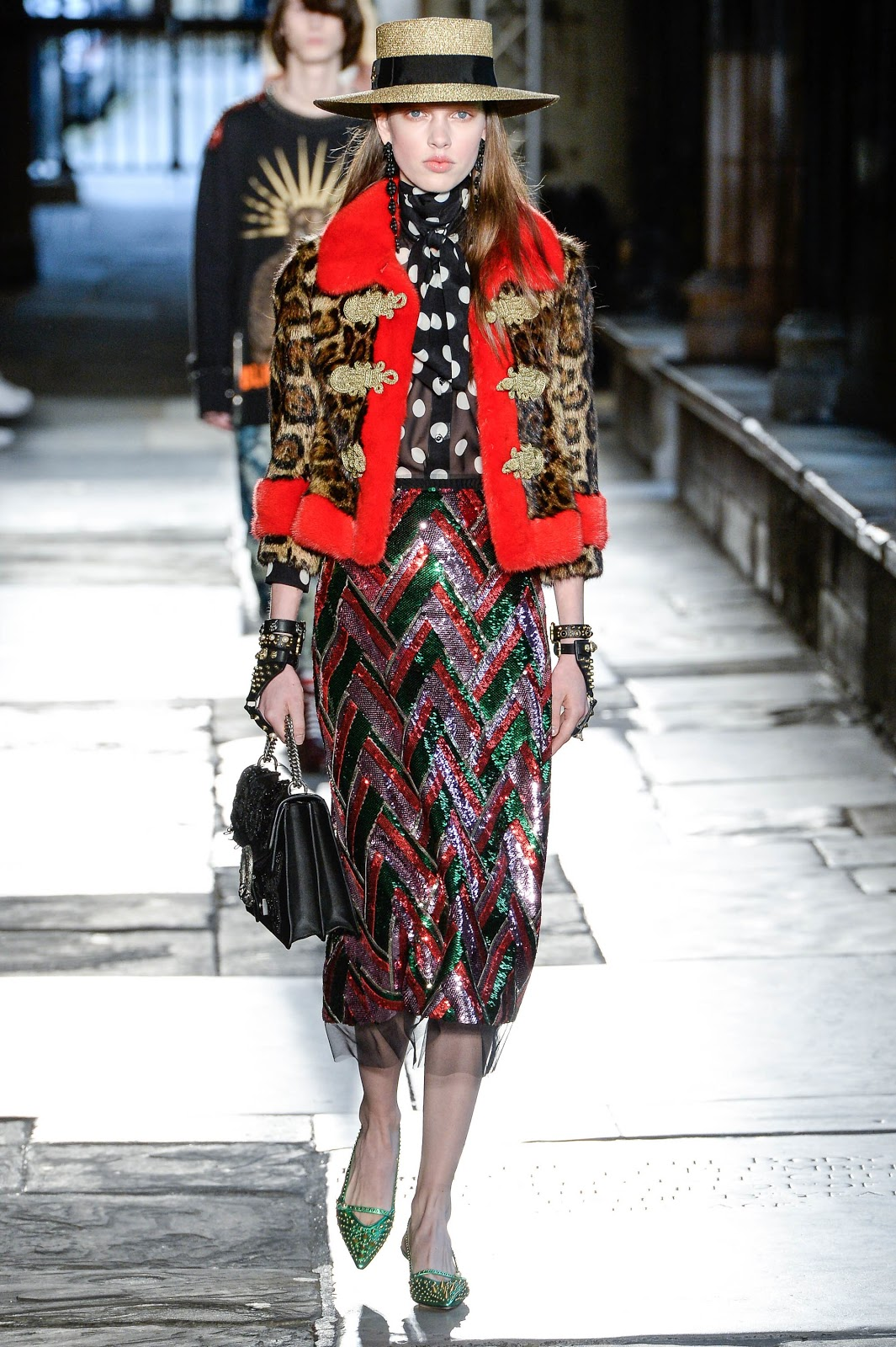 fashion runway gucci resort 2017 westminster abbey