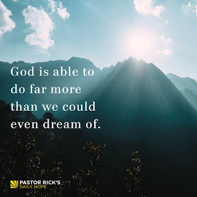What Faith Does to Your Dreams by Rick Warren