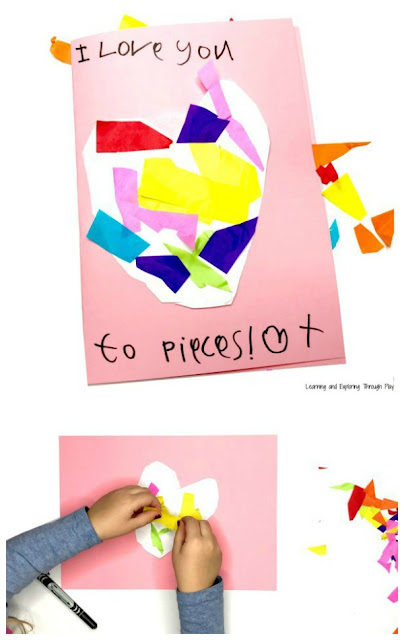 Love you to Pieces Collage Card - Toddler and Preschool