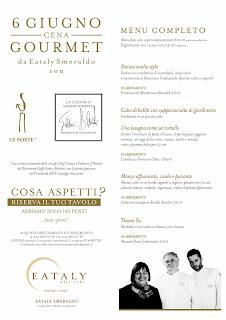 """Le Soste & Eataly appuntamento con le """"Cene Gourmet"""""""
