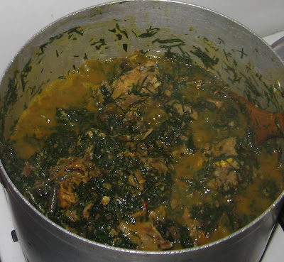Cooking banga afang soup with step by step pictures 013